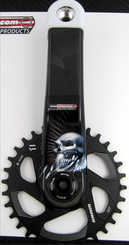 Crankskins Mini SPIRAL ASKULL with Logo
