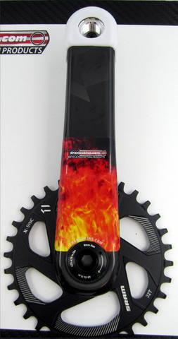 Crankskins Mini TALL FLAME with Logo