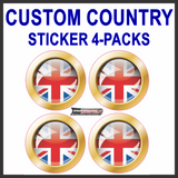 CUSTOM COUNTRY STICKER 4-PACKS: COUNTRY FLAGS