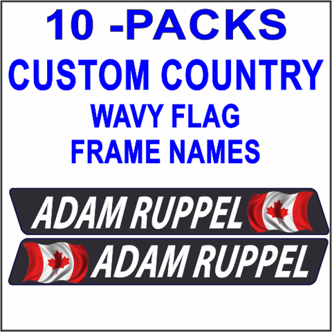 Frame Names World Wavy Flag