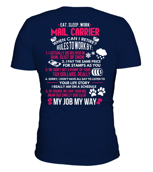 Mail Carrier - Rules To Work Shirt - Giggle Rich - 16