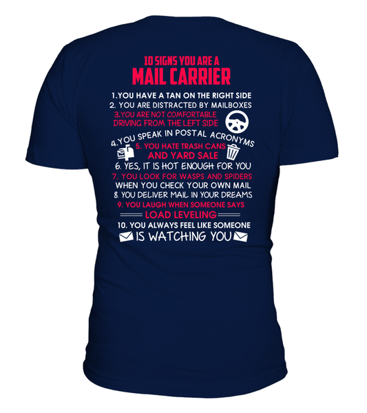 10 Signs That You Are A Mail Carrier Shirt - Giggle Rich - 3