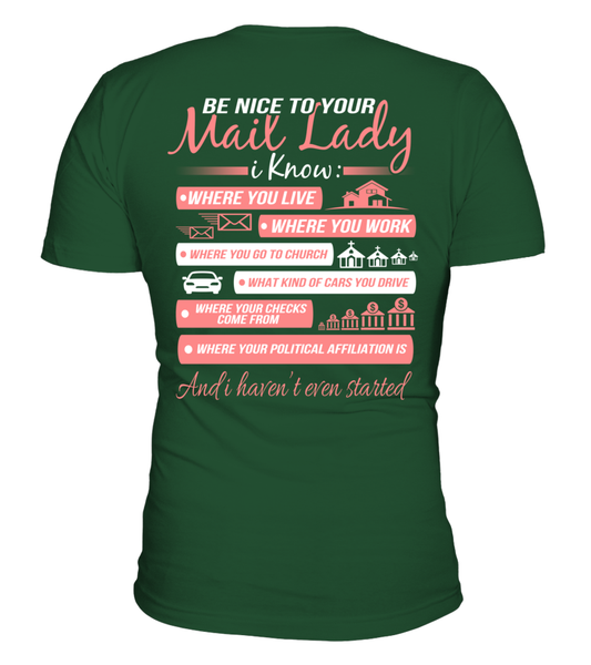 Be Nice To Your Mail Lady Shirt - Giggle Rich - 4