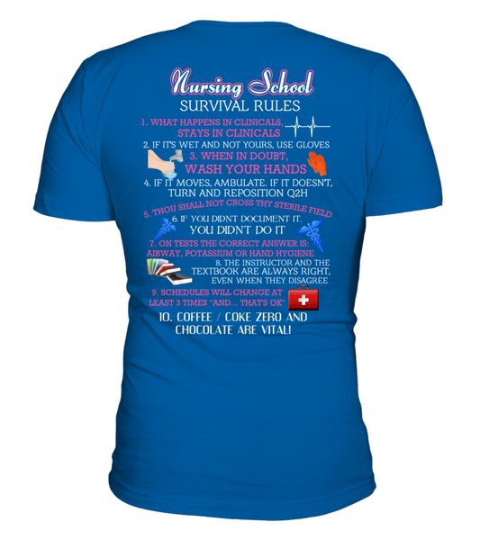 Nursing School Survival Rules Shirt - Giggle Rich - 4
