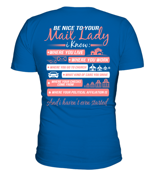 Be Nice To Your Mail Lady Shirt - Giggle Rich - 3