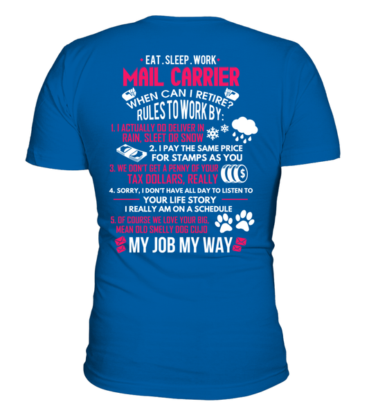 Mail Carrier - Rules To Work Shirt - Giggle Rich - 17