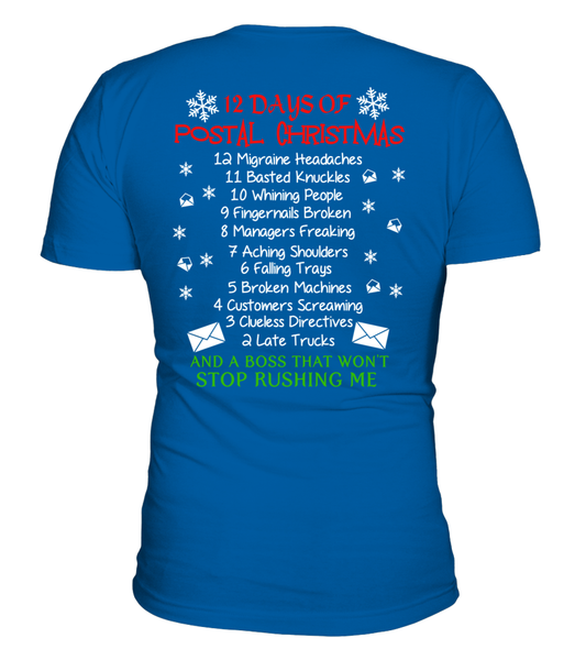 12 Days Of Postal Christmas Shirt - Giggle Rich - 6