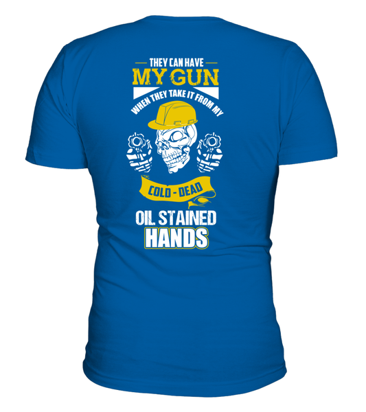 Oil Stained Hands Shirt - Giggle Rich - 8