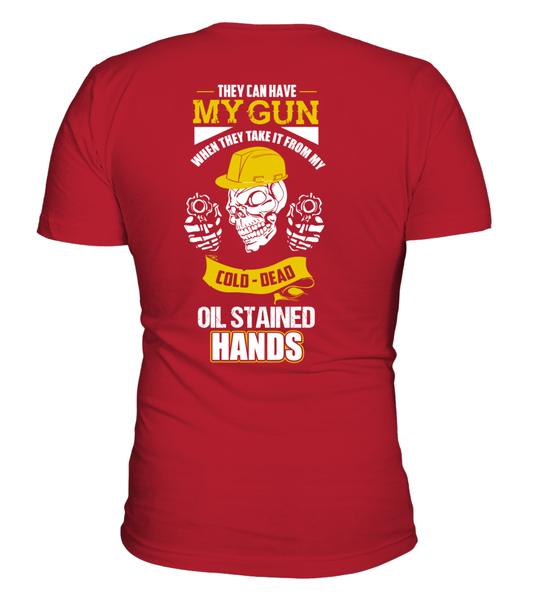 Oil Stained Hands Shirt - Giggle Rich - 4