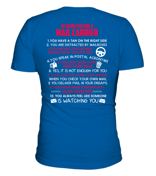 10 Signs That You Are A Mail Carrier Shirt - Giggle Rich - 4