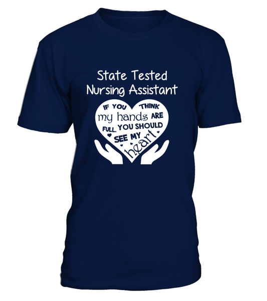 State Tested Nursing Assistant Heart Shirt - Giggle Rich - 3