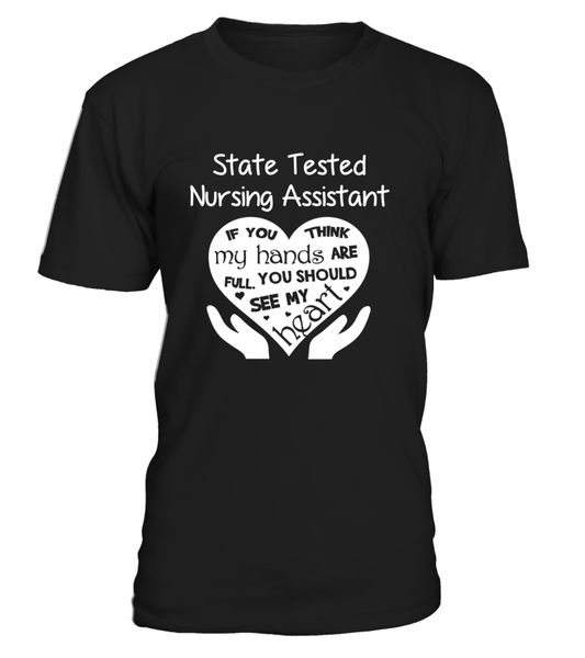 State Tested Nursing Assistant Heart Shirt - Giggle Rich - 1