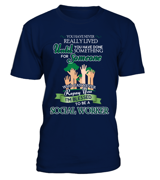 I'm Blessed To Be A Social Worker Shirt - Giggle Rich - 3