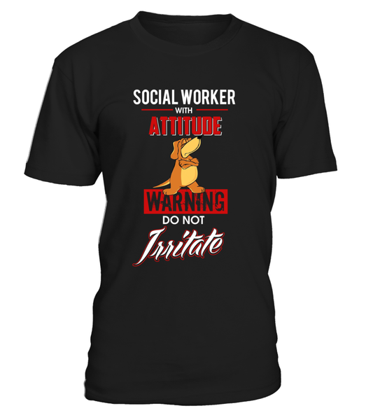 Social Worker With Attitude Shirt - Giggle Rich - 5