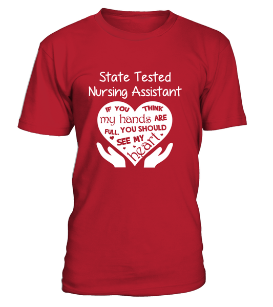 State Tested Nursing Assistant Heart Shirt - Giggle Rich - 7