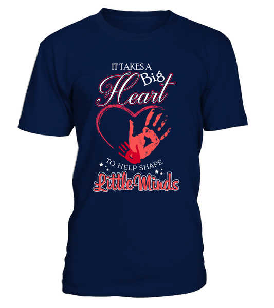 It Takes Big Heart To Help Shape Little Minds Shirt - Giggle Rich - 3