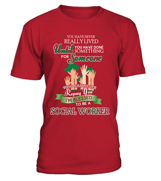 I'm Blessed To Be A Social Worker Shirt - Giggle Rich - 2