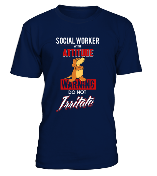 Social Worker With Attitude Shirt - Giggle Rich - 6