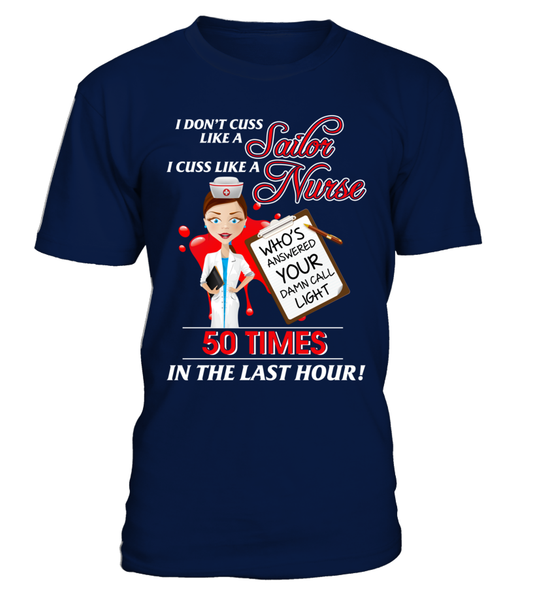 I Cuss Like A Nurse Shirt - Giggle Rich - 3