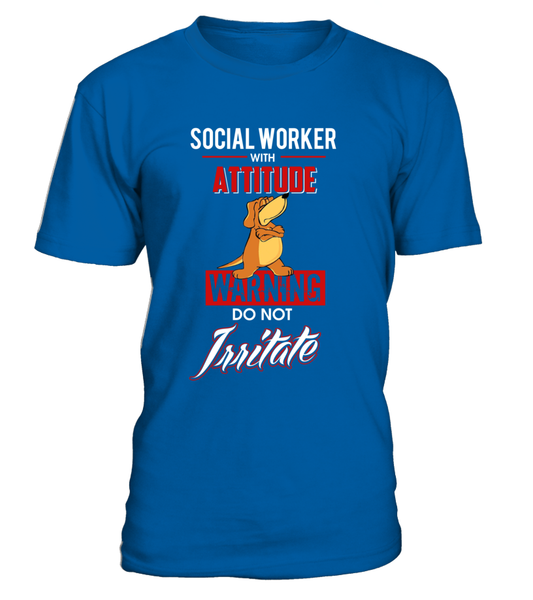 Social Worker With Attitude Shirt - Giggle Rich - 7
