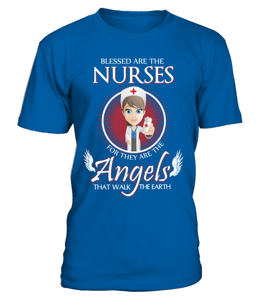 Nurses Are The Angels That Walk The Earth Shirt - Giggle Rich - 2