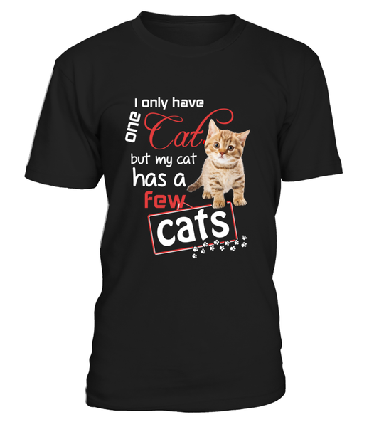 I Only Have One Cat Shirt - Giggle Rich - 7