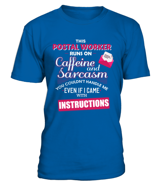 The Postal Worker Runs On Coffeine And Sarcasm Shirt - Giggle Rich - 3