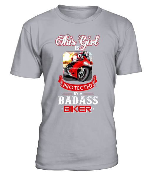 This Girl Is Protected By A Badass Biker Shirt - Giggle Rich - 4