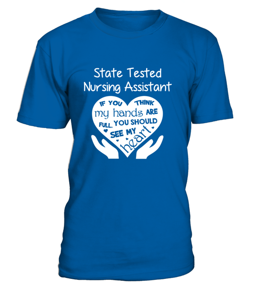 State Tested Nursing Assistant Heart Shirt - Giggle Rich - 2