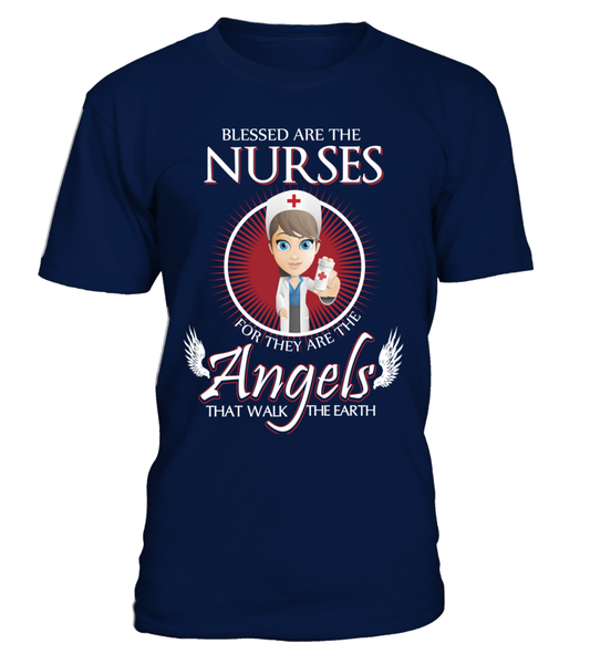 Nurses Are The Angels That Walk The Earth Shirt - Giggle Rich - 3