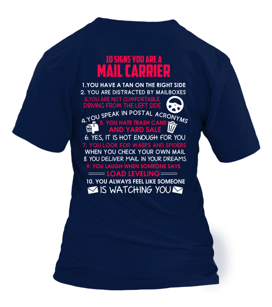 10 Signs That You Are A Mail Carrier Shirt - Giggle Rich - 9