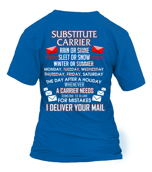 Substitute Carrier Deliver Your Mail Shirt - Giggle Rich - 20