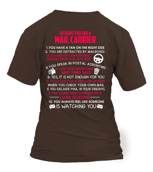 10 Signs That You Are A Mail Carrier Shirt - Giggle Rich - 19