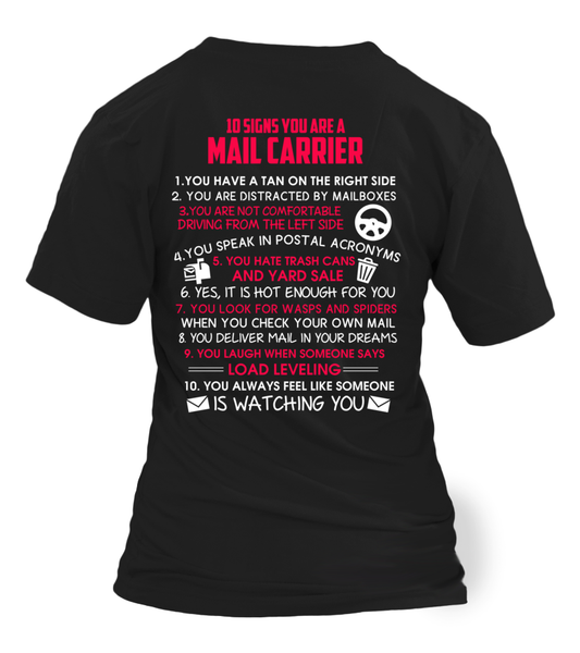 10 Signs That You Are A Mail Carrier Shirt - Giggle Rich - 24