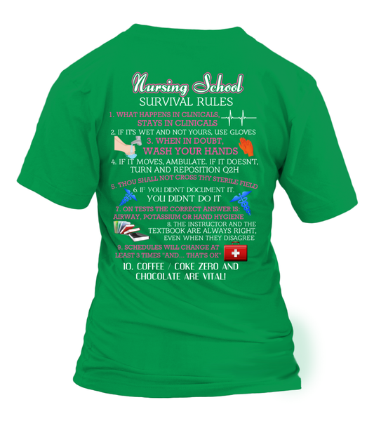 Nursing School Survival Rules Shirt - Giggle Rich - 18