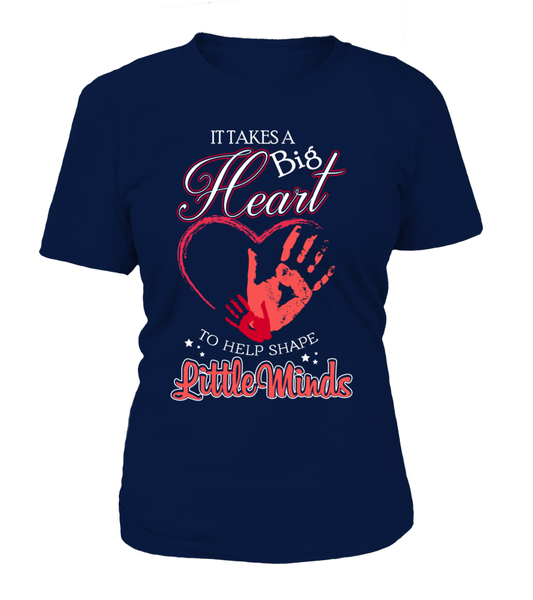 It Takes Big Heart To Help Shape Little Minds Shirt - Giggle Rich - 7