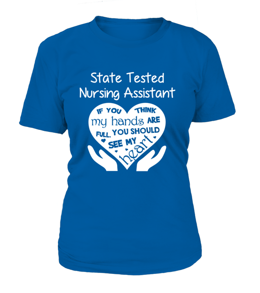 State Tested Nursing Assistant Heart Shirt - Giggle Rich - 9
