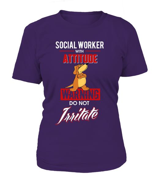 Social Worker With Attitude Shirt - Giggle Rich - 11