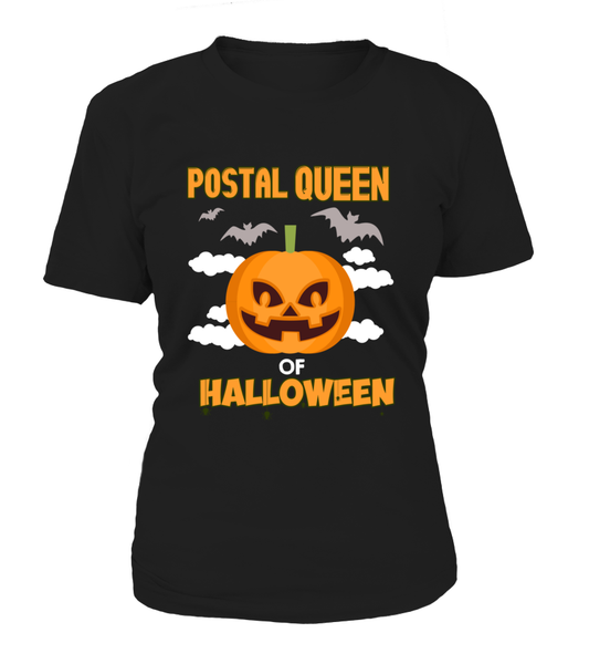 Postal Queen Of Halloween Shirt - Giggle Rich - 9