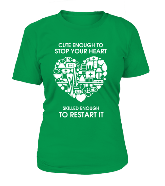 Cute Enough To Stop Your Heart Shirt - Giggle Rich - 9