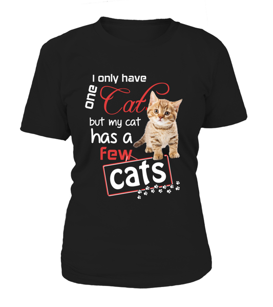 I Only Have One Cat Shirt - Giggle Rich - 10