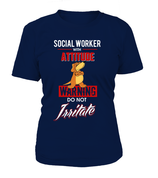Social Worker With Attitude Shirt - Giggle Rich - 9