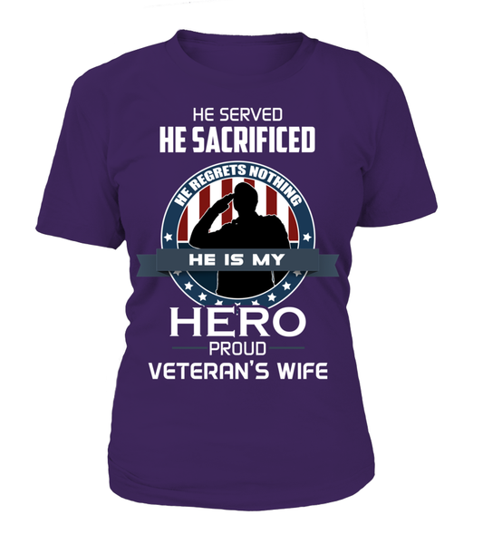 Proud Veterans Wife Shirt - Giggle Rich - 2
