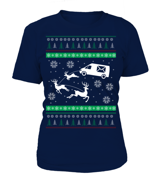 Postal Workers Ugly Christmas Sweater D1 Shirt - Giggle Rich - 15