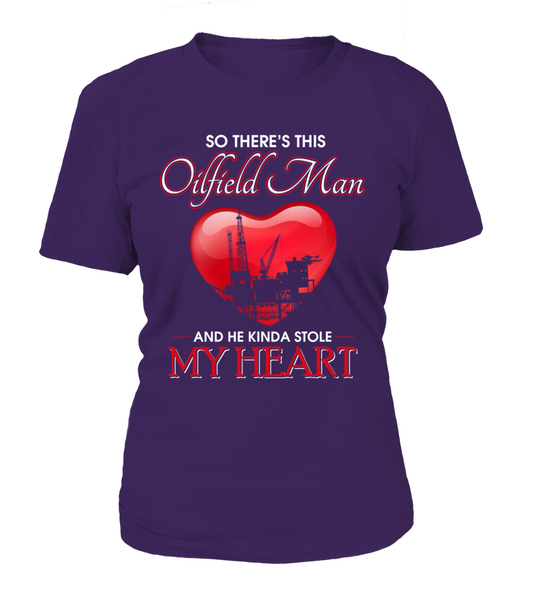Oilfield Man Heart Shirt - Giggle Rich - 2