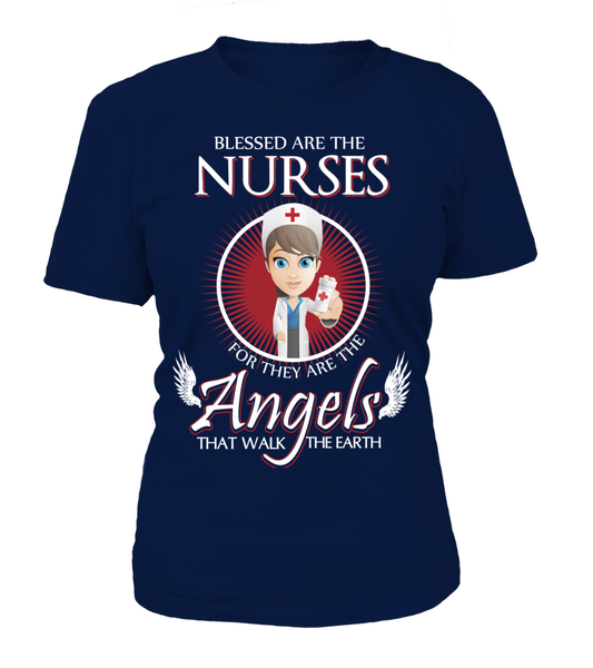 Nurses Are The Angels That Walk The Earth Shirt - Giggle Rich - 11