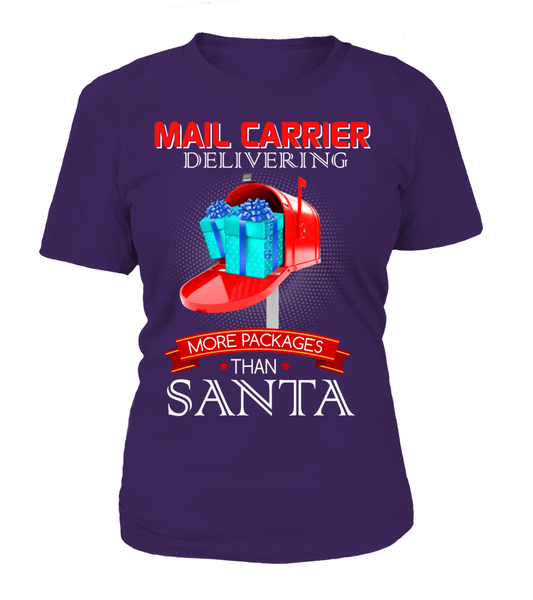 Mail Carriers Delivering More Packages Than Santa Shirt - Giggle Rich - 8