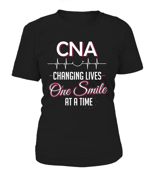 CNA Changing Lives - One Smile At A Time Shirt - Giggle Rich - 12
