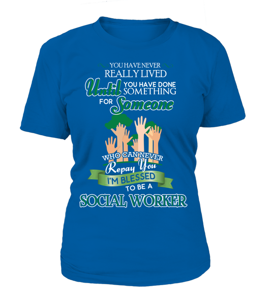I'm Blessed To Be A Social Worker Shirt - Giggle Rich - 10