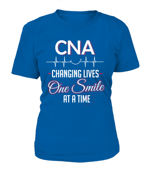CNA Changing Lives - One Smile At A Time Shirt - Giggle Rich - 10